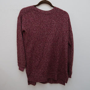Old Navy Burgundy Crew Neck Thin Knit Sweater